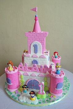 Princess Castle Birthday Cake Picture
