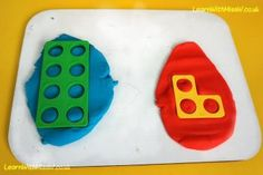 Another great way to explore odd and even through numicon, playdough is both motivational and educational. Building on the introduction to pairing in the Doorway Online odd and even shoe activity, children sort out the numicon numbers and print them at the playdough. Blue playdough is for even numbers that are 'all paired up'. Red playdough is for odd numbers that have an 'odd one out' or 'a missing partner' as the children describe it. #math #oddandeven