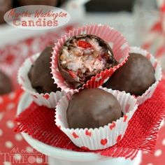 These Martha Washington Candies are an excellent addition to your holiday celebrations, are ideal for gift giving, and look impressive on a cookie tray!