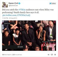Will Smith's Family Had a Priceless Reaction to Miley Cyrus's WTF?! VMA's Performance #Killuminati
