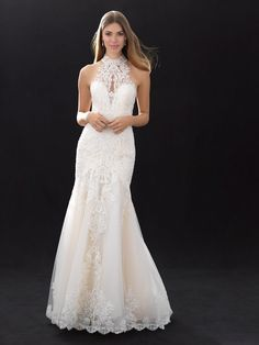 Modern Fit And Flare Wedding Dress by Madison James - Image 1