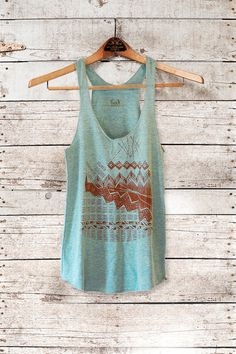 Astral Tepee Tank  womens triblend tank  brown  by by barkdecor, $26.00