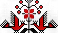 Ukrainian embroidery (folk) Cross Stitch Bird, Cross Stitch Borders, Cross Stitch Patterns, Blackwork Patterns, Bird Patterns, Armenia, Pj, Knit Crochet, Birds