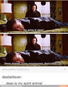 No wonder I like dean so much... Dean is ME XD
