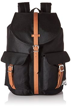 eaf760597b53 Herschel Supply Co Dawson Multipurpose Backpack BlackTan Synthetic Leather  -- Click on the image for
