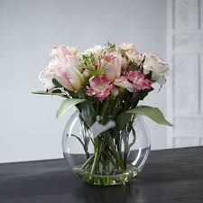 Fishbowl flowers - lovely centrepiece