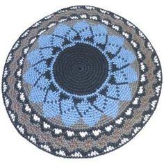 How to Crochet a Yarmulke Crochet Cap, Thread Crochet, Crochet Motif, Crochet Stitches, Crochet Patterns, Crochet Doilies, Jewish Crafts, Step By Step Crochet, Tapestry Crochet