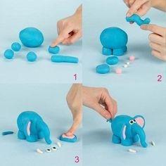 Tiere aus Knete mit Kinder basteln - Anleitung-dekoking-com-2 Mehr