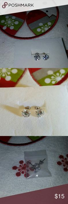 [NEW] CZ diamond studded earrings Lovely CZ diamond studded earrings. New in package  NO TRADES OR PAYPAL Jewelry Earrings