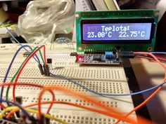 Thermometer with two sensors DS18B20 and Arduin