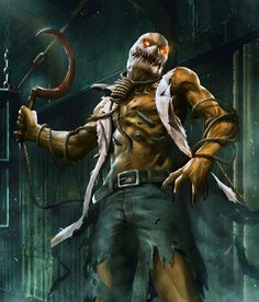 Scarecrow from Injustice 2 Mobile Scarecrow 2 Injustice 2, Dc Comics Vs Marvel, Marvel Heroes, Geek Culture, Scarecrow Batman, Teen Titans Starfire, Gotham Villains, New Gods, Joker And Harley
