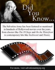 Did you know? The Salvation Army has been featured or mentioned in 100's of Hollywood movies over the years...