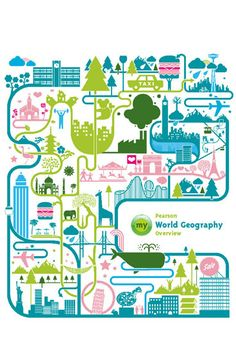 Crush | My World Geography Overview by Pearson (Concept Cover) Graphic Design Books, Graphic Design Illustration, Illustration Art, Buch Design, Map Design, Atelier Theme, World Geography, Creative Photos, Book Cover Design