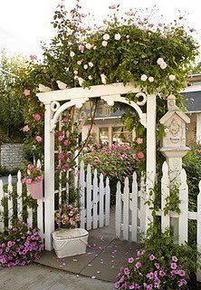 Like the birdhouse beside the gate