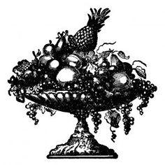 vintage fruit platter free clip art