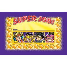Superheroes Incentive Punch Cards. Boom! Pow! Wow! Check out our selection of #superhero classroom supplies!