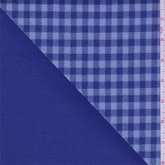 Medium weight 100% wool twill weave jacketing fabric. Soft and slightly brushed with a dry hand/feel. Double sided with a yarn dyed royal and pale blue check on surface with solid royal reverse. Suitable for jackets and blazers. Hand wash or for best results, dry clean. Imported from Japan.Compare to $30.00/yd