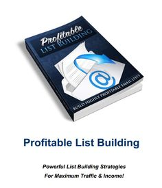 Do you know how to build a profitable list? 87% of everyone marketing on the internet has no idea how to truly build a profitable list.   Almost on a daily basis, my team is asking me how i get the results I do, and so i put this FREE .PDF file together so you won't have to ask.  Free Profitable List Building PDF, Yours Free for a limited time.   Click on the Image Below Now to Get Free Access to Your Essential Profitable List Building PDF