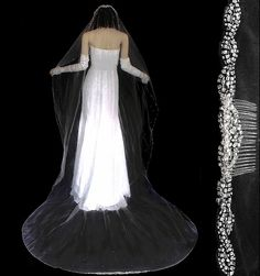 Cathedral Wedding Veils, Blusher, Headpiece, Wedding Jewelry, Bridal, Crystals, Elegant, Collection, Dresses