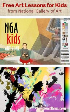 Free Art Lessons for Kids from National Gallery Art -- all are interactive and are based on the collections at NGA. Access from computer or iPad #kidsapps