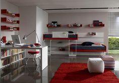 modern teen decor (bed placement)