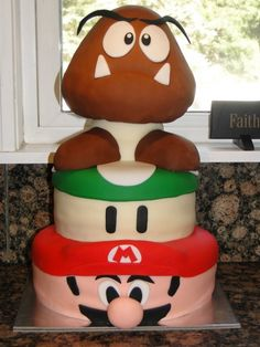 I really just want to do a giant goomba cake now.