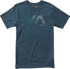 RVCA Men's Wavy VA Tee, Midnight, Small - http://shop.dailyskatetube.com/product/rvca-mens-wavy-va-tee-midnight-small/ -  Usual are compatible t-blouse Monitor revealed at chest Screened within neck main points  -