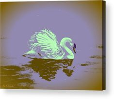 Swan Wood Print featuring the painting Dream Swan by Faye Anastasopoulou Swan Painting, Wall Art Prints, Canvas Prints, Fine Art Posters, Thing 1, Print Pictures, Wood Print, Fine Art America, Original Art