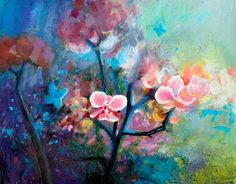 """""""Orchid Forest"""" painted by Bethany Vanderputten"""