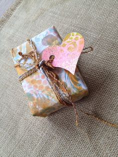 Inky scrap paper gift wrap by Claire.