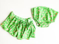Gathered Bloomer Baby Skirt Tutorial- One Little Minute Blog-3
