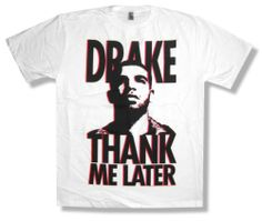 "DRAKE - ""THANK ME LATER"" PORTRAIT PHOTO WHITE T-SHIRT - NEW ADULT X-LARGE XL"