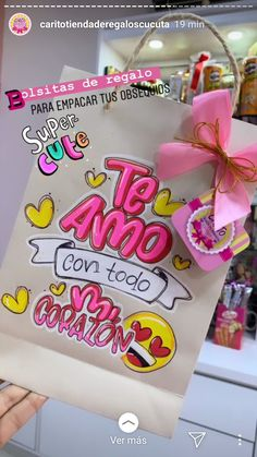 Diy Crafts For Girls, Cute Crafts, Craft Stick Crafts, Diy And Crafts, Boyfriend Anniversary Gifts, Boyfriend Gifts, Diy Birthday, Birthday Cards, Flower Box Gift