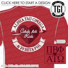 TGI Greek - Alpha Tau Omega - Pi Beta Phi - Philanthropy - Greek Apparel #tgigreek #alphatauomega #pibetaphi