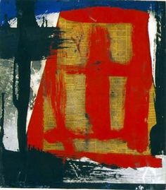 Untitled 1952 by Franz Kline. Medium: oil and collage on telephone book paper; Franz Kline, Willem De Kooning, Watercolor Artists, Oil Painting Abstract, Abstract Art, Painting Art, Watercolor Painting, Tachisme, Jackson Pollock