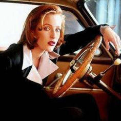 """Mulder:""""why don't you let me drive?""""  Scully:""""Why do you have to drive all the time? Is it because you are a man the big mucho man?""""  Mulder: """"no I just wasn't sure if your tiny feet could reach the petal"""" I love them"""
