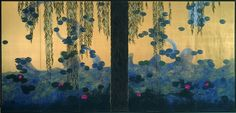 Hiramatsu Reiji. Right screen. 1998. The Lily Pond. Homage to Monet
