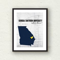 Georgia+Southern+++Georgia+Southern+eagles+by+PaperFinchDesign,+$15.00