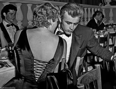 James Dean and Ursula Andress with back to photographer 8x10 rare photo