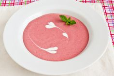 "cold strawberry ""cruise"" soup.  Have you tried the cold ""cream of ____"" (insert fruit name) soups on cruises?  So good.  (can subsitute for fat free.  Still good.)"