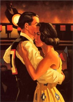 Competition Dancers - Jack Vettriano