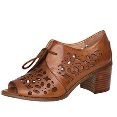 3cbfa591572446 MatchLife Women Leather Hollow Heeled Fish Mouth Sandals Khaki 3 UK