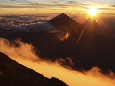Great Sunsets, clouds, Mountains, peaks
