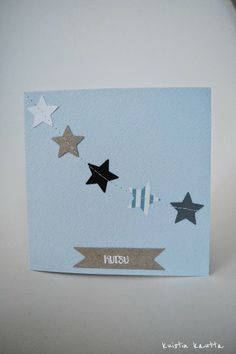 Kuistin kautta: DIY: Ristiäiskutsu Baby Boy Christening, Diy Cards, Kids And Parenting, Baby Love, Place Card Holders, Party, How To Make, Crafts, Card Ideas