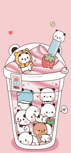 Htc Wallpaper, Peach Wallpaper, Sanrio Wallpaper, Kawaii Wallpaper, Wallpaper Backgrounds, Cute Cartoon Images, Cute Love Cartoons, Cute Images, Cute Tumblr Wallpaper