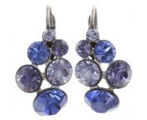 Konplott Petit Glamour Ohrringe blau lila