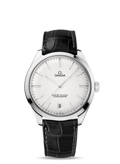 OMEGA Watches: De Ville Trésor Omega Master Co-Axial 40 mm - White gold on leather strap - Cool Watches, Watches For Men, Men's Watches, Casual Watches, Rolex, Mens Fashion Wear, Bracelet Cuir, Classic Gold, Patek Philippe
