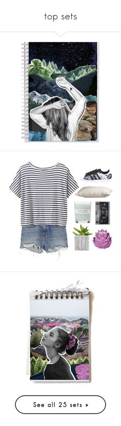 """""""top sets"""" by friendly-fires ❤ liked on Polyvore featuring art, country, artkylee, kyleestopsets, Alexander Wang, Athleta, Zara Home, A.P.C., PBteen and adidas Originals"""
