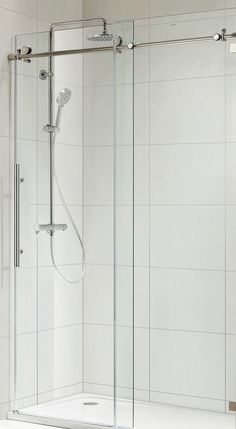 Paragon Bath TRIDENT LUX Frameless Sliding Shower Door in Chrome, Size: 59 1/2 in. W x 72 in. H (Premium Clear Glass)