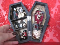 The Vampire  Miniature Coffin Shadow Box by AhtheMacabre on Etsy, $50.00